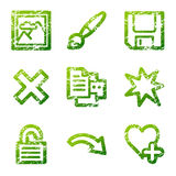 Grunge viewer 2 contour icons Royalty Free Stock Photos