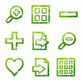 Grunge viewer contour icons Stock Images