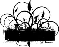 Grunge Vines background. Background Illustration grunge silhouette and vines Stock Photo