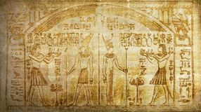 Grunge vintage ancient egyptian history hieroglyphics Royalty Free Stock Photos