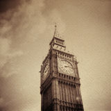 Grunge vintage background with Big Ben Royalty Free Stock Photos