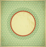 Grunge, vintage background with a circular frame