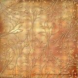 Grunge vintage background with floral ornament Stock Image