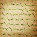 Grunge vintage background with flowers Stock Photography