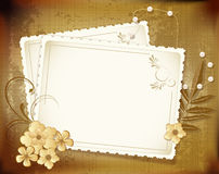 Grunge, vintage background with a greeting card Stock Image