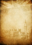Grunge vintage background. London theme. Buildings of Parliament with Big Ban tower in London UK view from Themes bridge royalty free illustration
