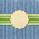 Grunge vintage banner recycled paper craft Stock Images