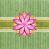 Grunge vintage banner recycled paper craft Stock Image