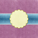 Grunge vintage banner recycled paper craft Royalty Free Stock Image