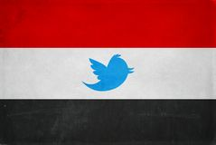 Egypt flag twitter symbol Banning twitter in Egypt restriction symbol Stock Photo