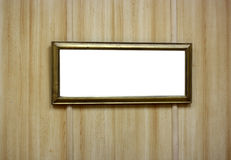 Blank photo frame on grunge wall stock photo