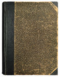 Grunge Vintage Book Hard Cover, Blank Empty Antique Ornamental Textured Abstract Background Pattern, Old Aged Vertical Stained Royalty Free Stock Photo