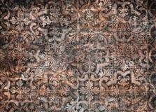 Grunge vintage ceramic tiles background stock image