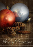 Grunge vintage Christmas ornament Royalty Free Stock Image