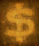 Grunge vintage dollar sign Stock Images