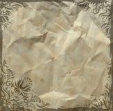 Grunge vintage floral background. On crushed paper Royalty Free Stock Image