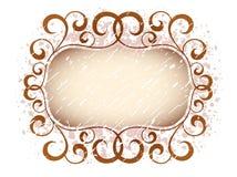 Grunge vintage floral banner Royalty Free Stock Images