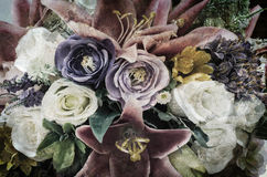 Grunge Vintage flower background/Romantic vintage flower backg stock illustration