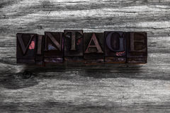 Grunge vintage font Stock Photography