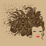 Grunge vintage girl Royalty Free Stock Image