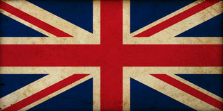 Grunge vintage Great Britain flag Royalty Free Stock Photo