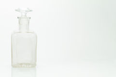 Grunge vintage grunge bottle on white background Royalty Free Stock Photo