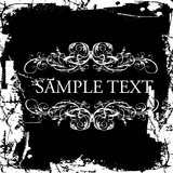 Grunge Vintage Ornate Banner Stock Photos