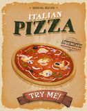 Grunge And Vintage Pizzeria Poster Stock Photo