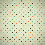 Grunge vintage retro background with polka dots. Vector illustration Stock Images
