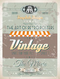 Grunge Vintage retro page template Stock Images