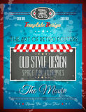 Grunge Vintage retro page template Stock Photography