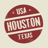 Grunge vintage round stamp with text Houston,Texas. Illustration Stock Photos