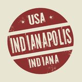 Grunge vintage round stamp with text Indianapolis, Indiana. Vector illustration Royalty Free Stock Photography