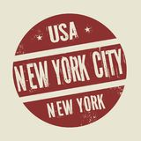 Grunge vintage round stamp with text New York City, New York. Vector illustration Stock Photography