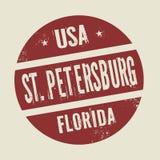 Grunge vintage round stamp with text St. Petersburg, Florida. Vector illustration Stock Photo