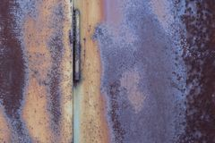 Grunge vintage rusty metal plate texture Royalty Free Stock Images