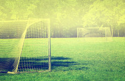 Grunge vintage soccer background Royalty Free Stock Photography