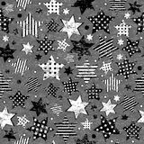 Grunge vintage stars seamless background Royalty Free Stock Photos