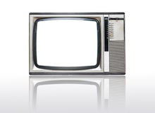 Grunge vintage television isolated on white Royalty Free Stock Photos