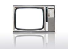 Grunge vintage television isolated on white. Background Royalty Free Stock Photos