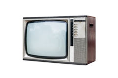Grunge vintage television isolated on white. Background Royalty Free Stock Photo