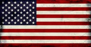 Grunge Vintage USA flag background Royalty Free Stock Images
