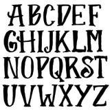 Grunge vintage whiskey font. Old handcrafted display skript. Modern brush label lettering. Vector typography Stock Photography