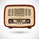 Grunge vintage wooden radio Stock Photography