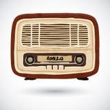Grunge vintage wooden radio Stock Photography