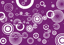 Grunge violet background. With circles stock illustration