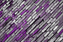 Grunge violet bricks Stock Images