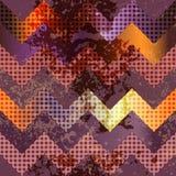 Grunge violet chevron Royalty Free Stock Images