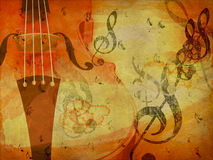 Grunge violin background Stock Images