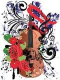 Grunge Violin Illustration Royalty Free Stock Photo